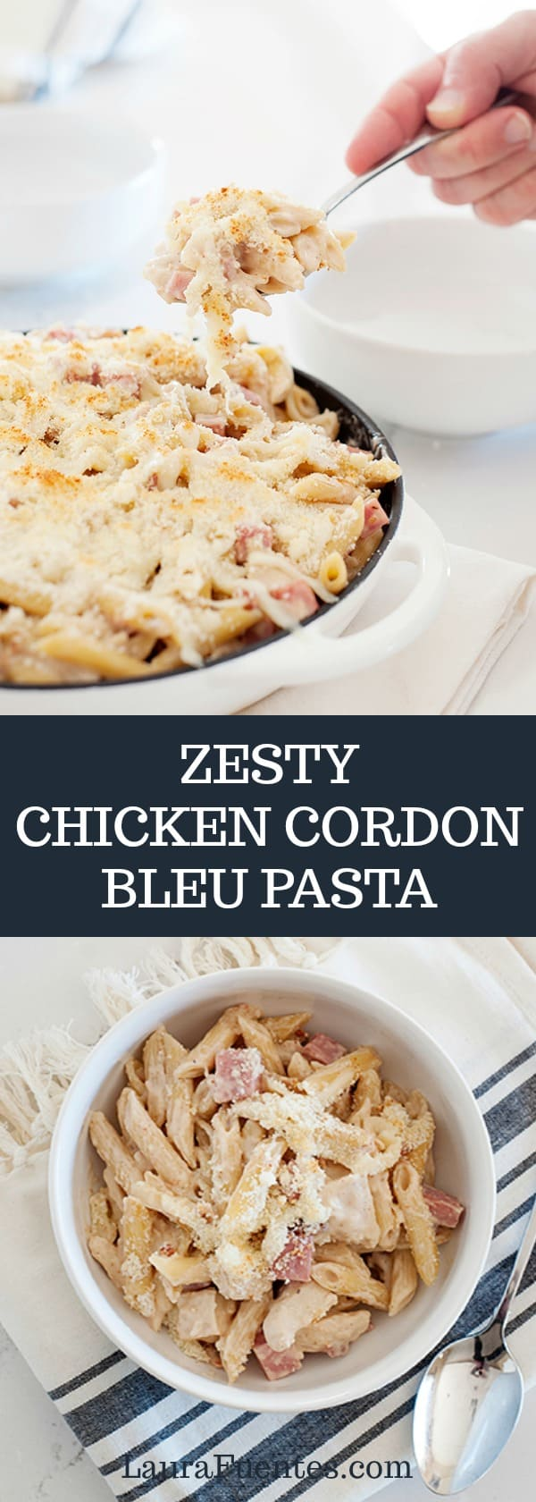 One bowl of this Zesty Chicken Cordon Bleu Pasta and you'll be smitten! Easy to make in less than 30 minutes.