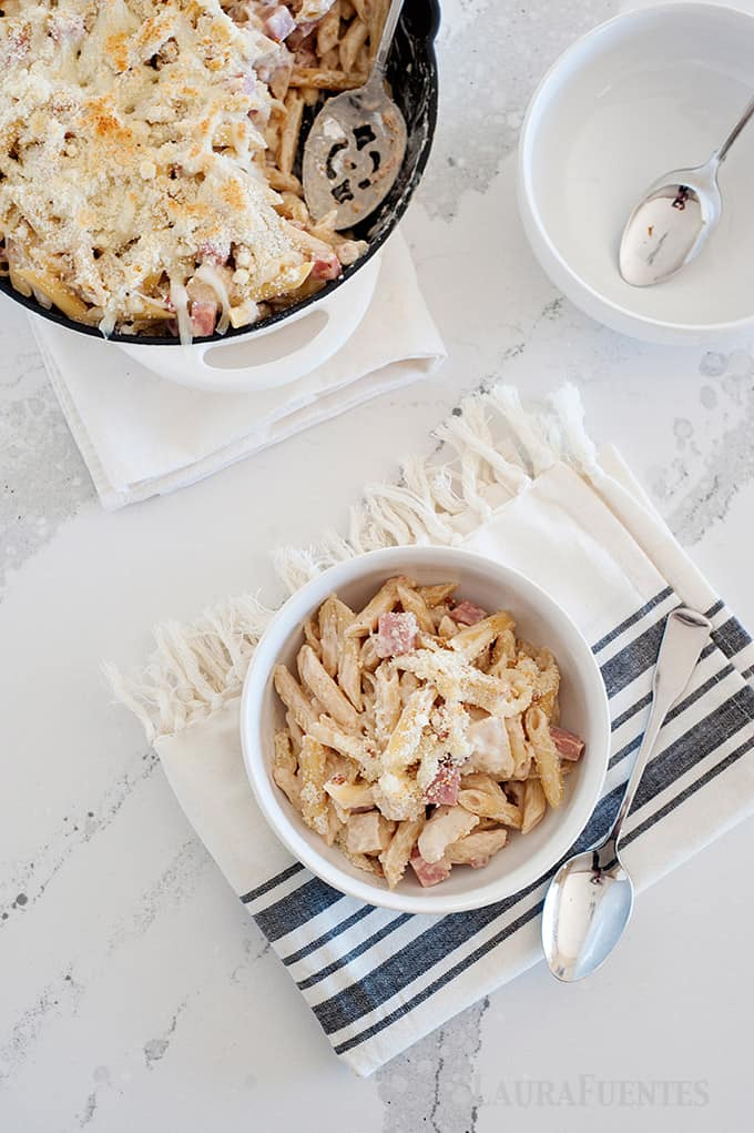 Chicken Cordon Bleu Pasta for an easy midweek meal