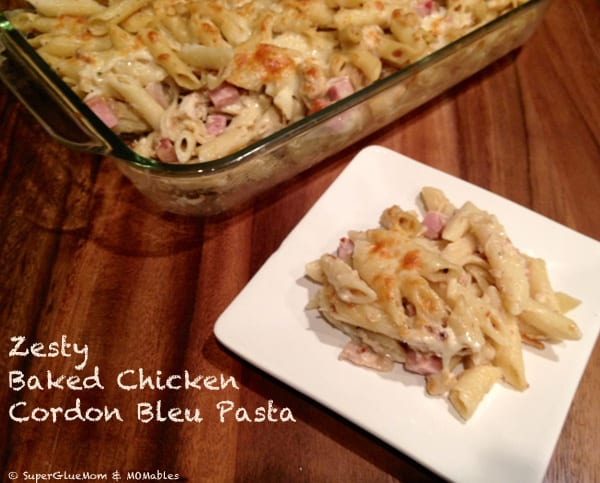 zesty baked chicken cordon bleu pasta recipe