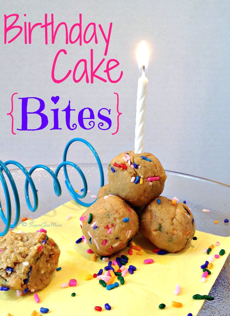 These Birthday Cake Bites Are Delicious Easy To Make And Super Quick They