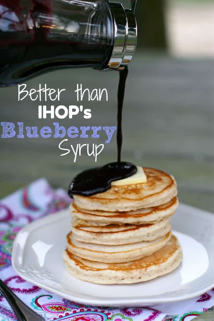 IHOP's blueberry syrup homemade recipe & perfect pancakes SuperGlueMo...