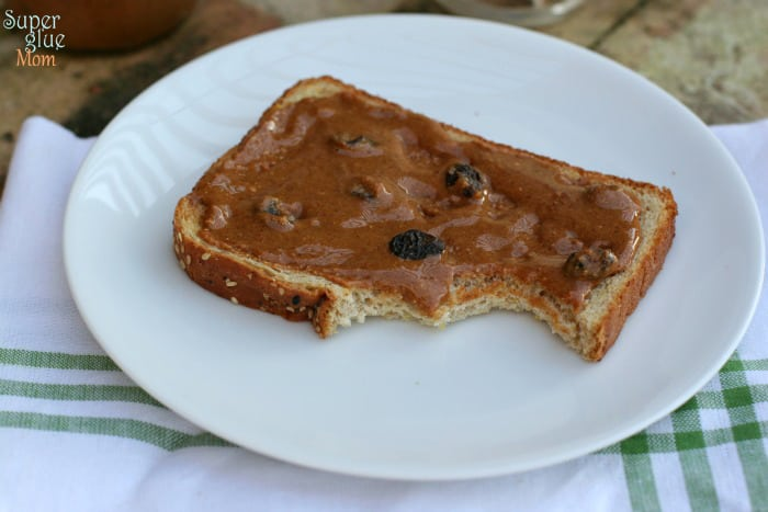 Don't you want some? cinnamon raisin peanut butter SuperGlueMom.com