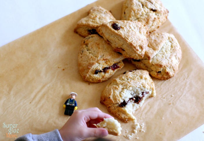 cranberry orange scones from Laura Fuentes