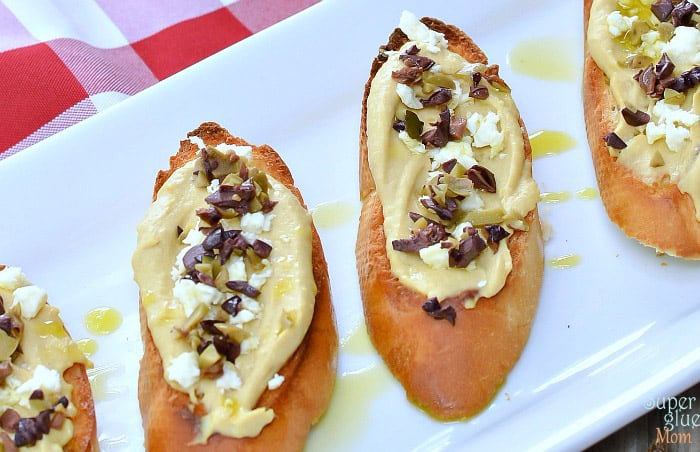 hummus crostini recipe