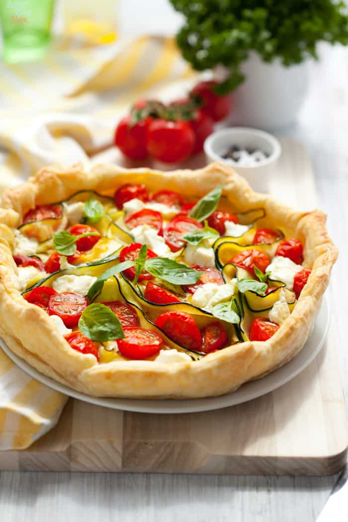 Easy Puff Pastry Quiche Recipe, perfectly flaky quiche crust with vegetable quiche filling