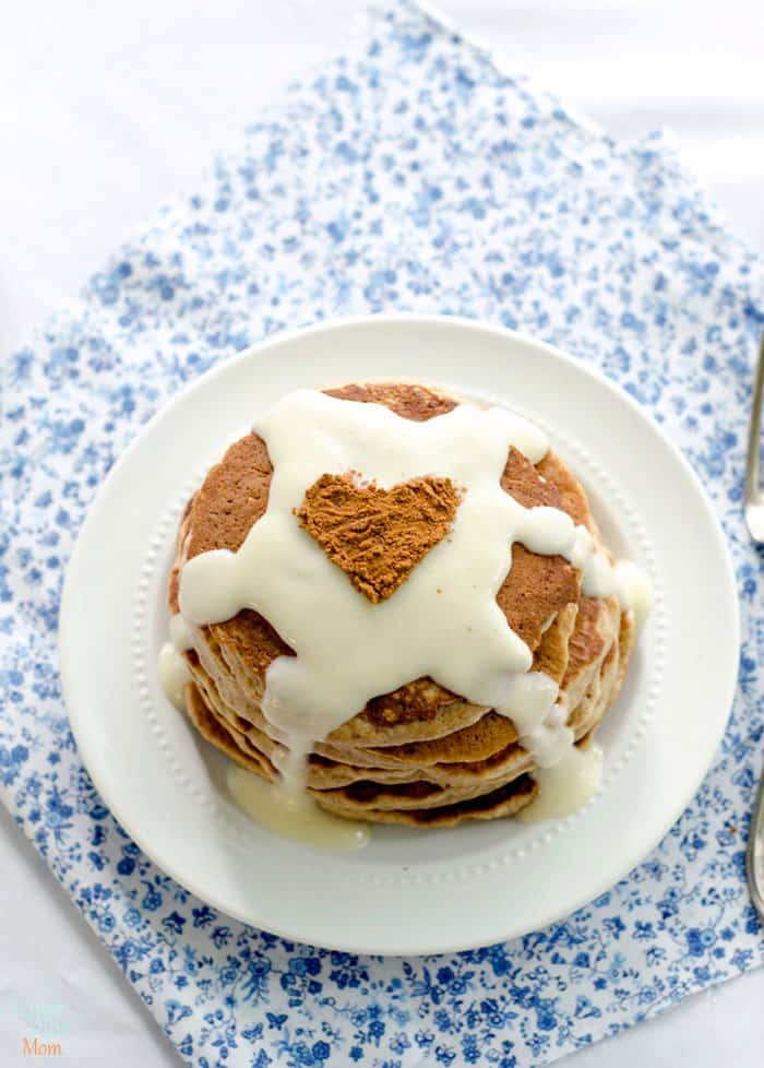 Cinnamon Roll Pancakes inspired by Cinnabon