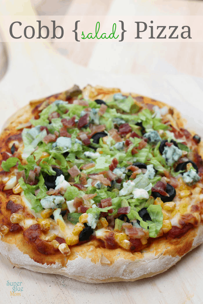 cobb salad pizza plus the best homemade pizza dough recipe ever!