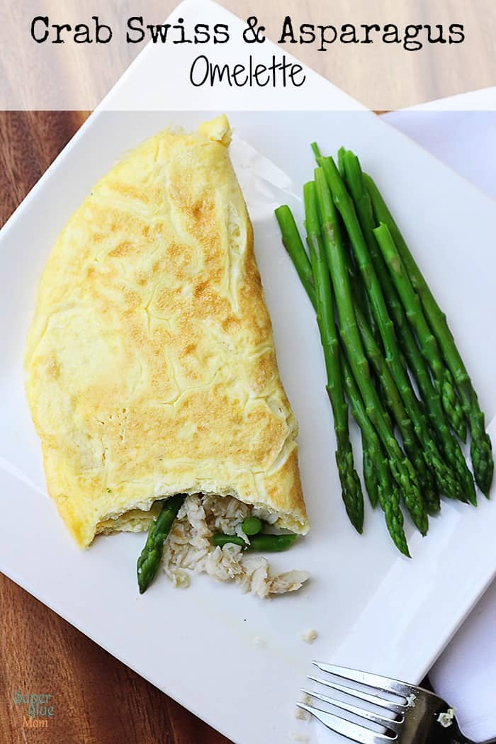 This crab and asparagus stuffed omelette is perfect for dinner or brunch! Eggs are so versatile, aren't they?