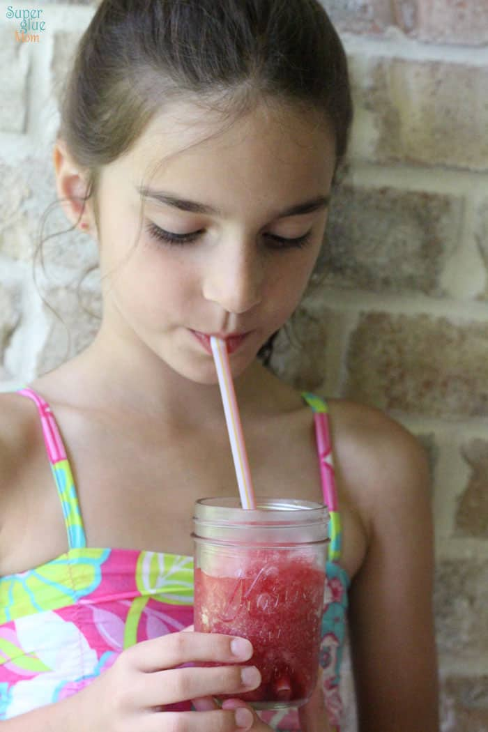 real homemade icee slushy with no artificial colors or flavors. a kid favorite!