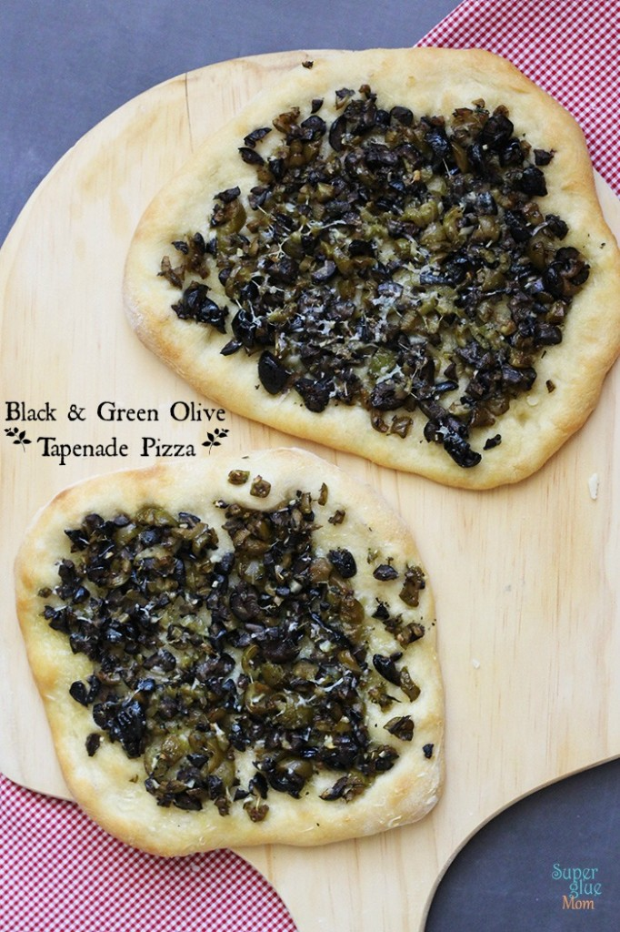 Black and Green Olive Tapenade Pizza