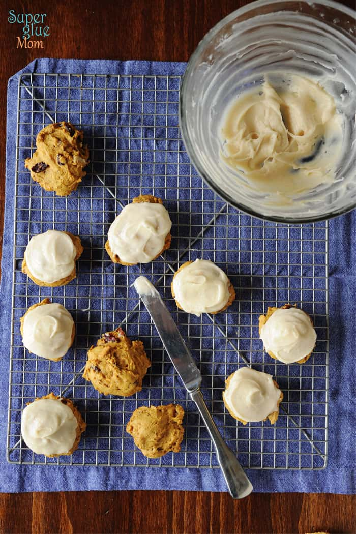 Frosted Pumpkin Cookies with Cream Cheese Frosting