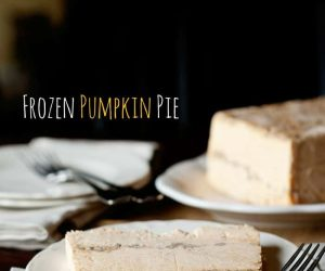 frozen pumpkin pie dessert is perfect for the fall or the holidays! via SuperGlueMom.com