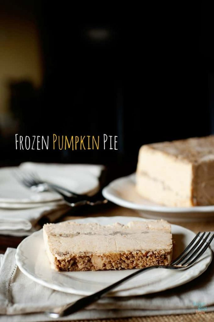 frozen pumpkin pie dessert via SuperGlueMom.com