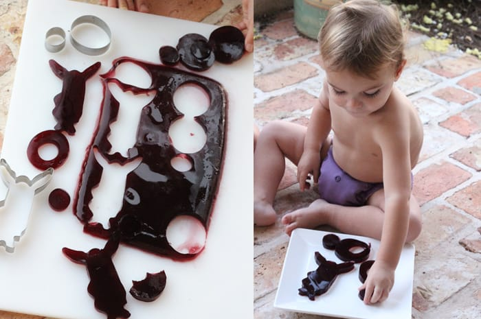 homemade jello jigglers with 100% real ingredients. what else would you give your kids?