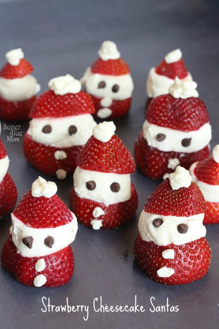 Cheesecake Stuffed Strawberry Santas