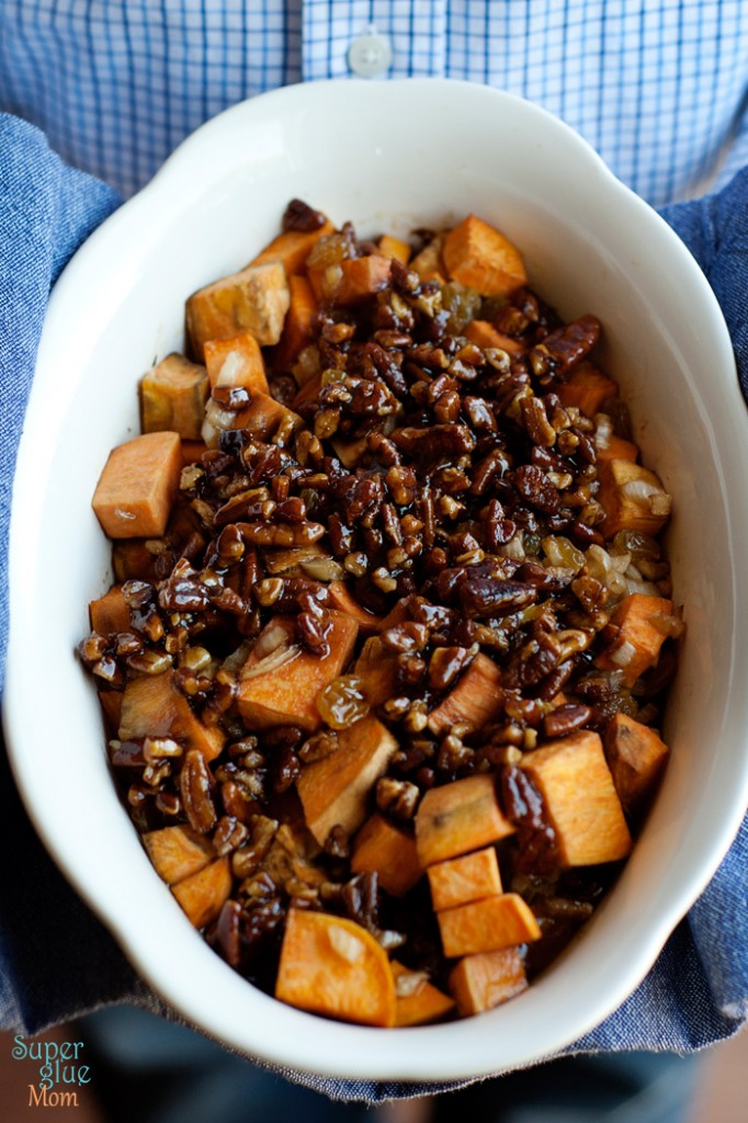 Paleo Sweet Potato and Pecan Casserole via SuperGlueMom.com