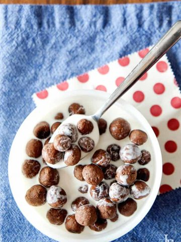 Crunchy, a hit of of sweetness... DELICIOUS Homemade Cocoa Puffs Recipe {grain free and paleo, gluten free, and regular recipes}