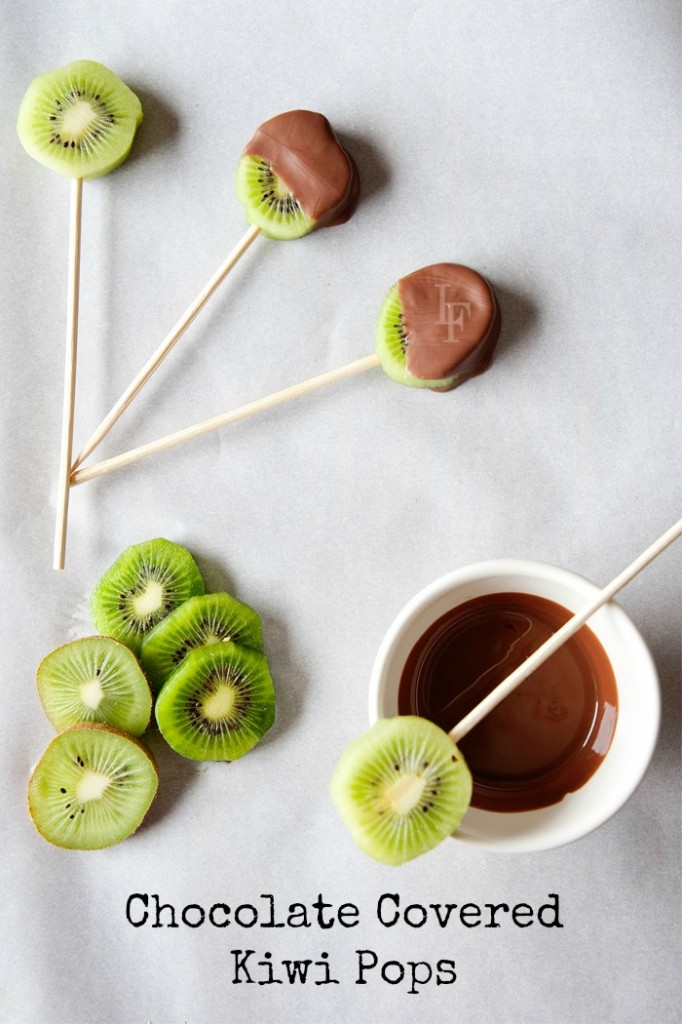 Chocolate Covered Kiwi Pops - Easy kid food craft!