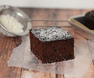 grain free paleo chocolate cake recipe with mostly coconut flour. You won't believe the texture!