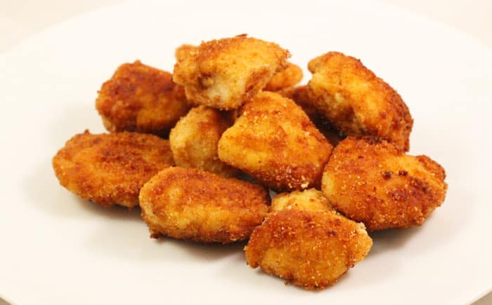 image: gluten free chicken nuggets on a plate