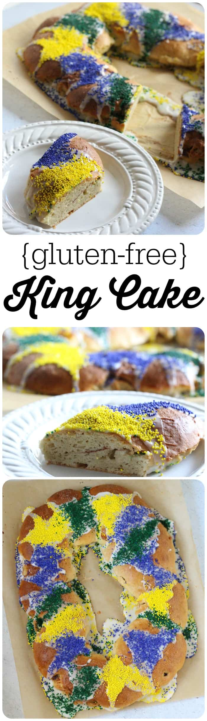 This gluten free king cake recipe is super easy to make and nobody will know the difference!
