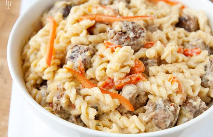 Skillet Meal: Sausage & Pepper Creole Alfredo