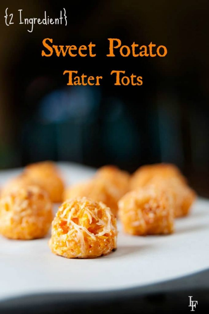 Easy to make sweet potato tater tots made with two ingredients that everyone will love!