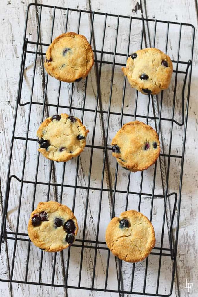 these grain free and paleo blueberry scones are delicious and super easy to make!