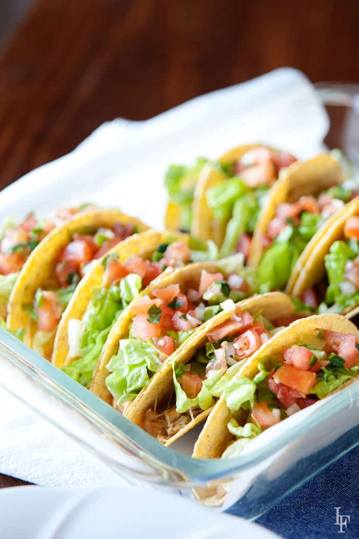 this is the easiest taco night ever! No more cold tacos because you were the last one to sit down!