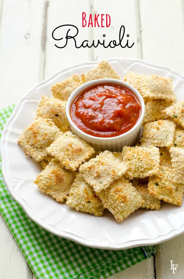 easy baked ravioli recipe everyone will love! Also easy to pack inside a school lunch. with gluten free option