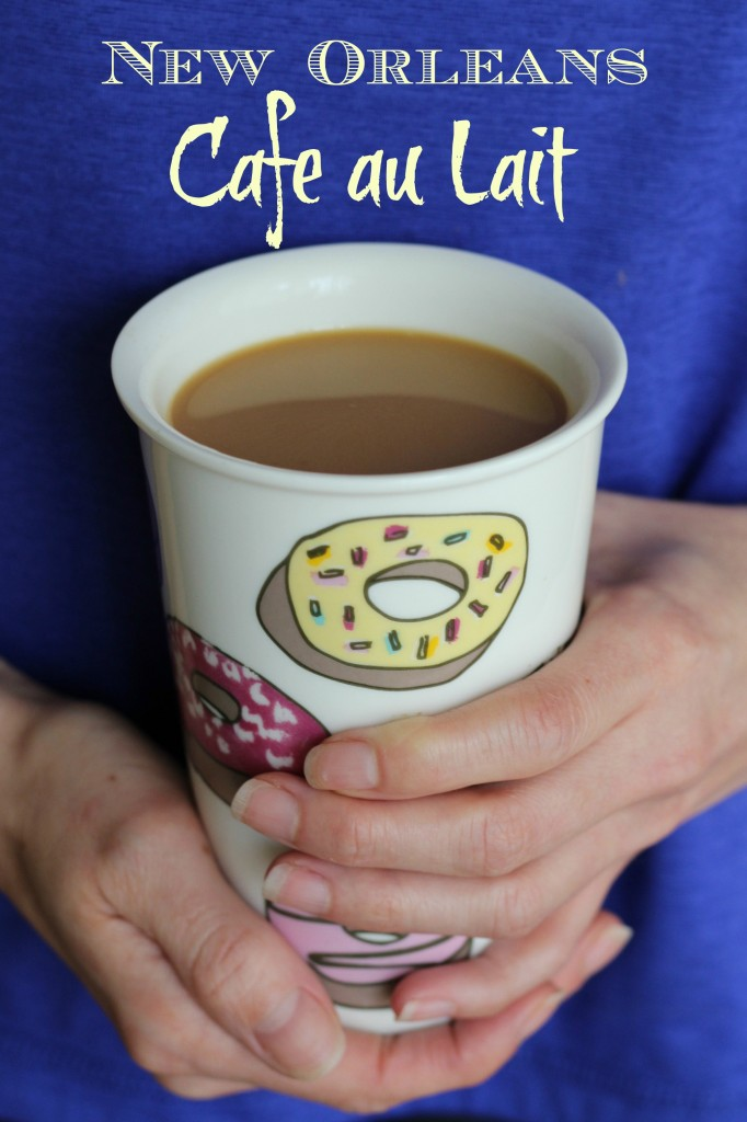 how to make a new orleans cafe au lait
