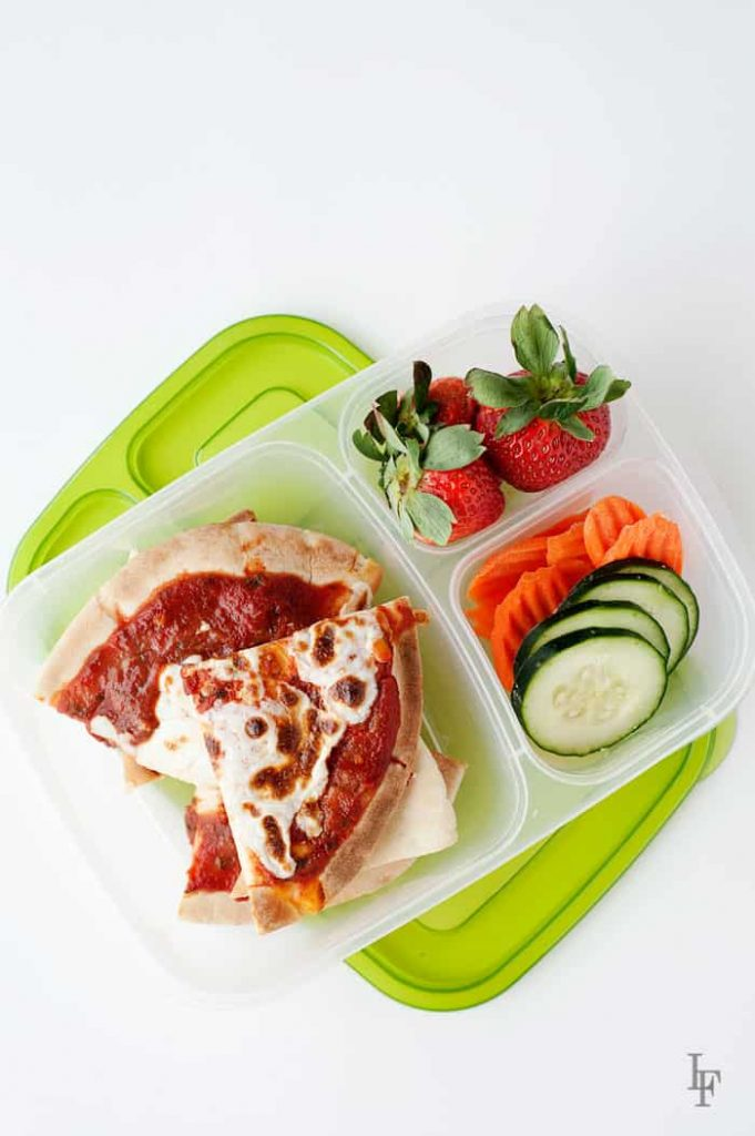 leftover pita pizzas are also perfect for a quick to assemble school or office lunch!