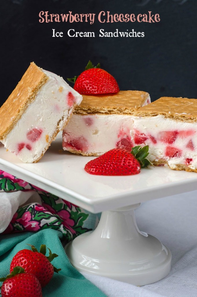 these strawberry cheesecake ice cream sandwiches are so easy to make and so delicious!