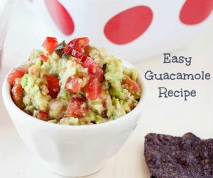 A guacamole recipe that comes together in about 1 minute? Absolutely. Simple and delicious!