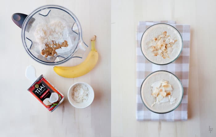 Coconut Pie Smoothie Recipe - Dairy Free and delicious. Plus, how to pack a smoothie in a school lunch