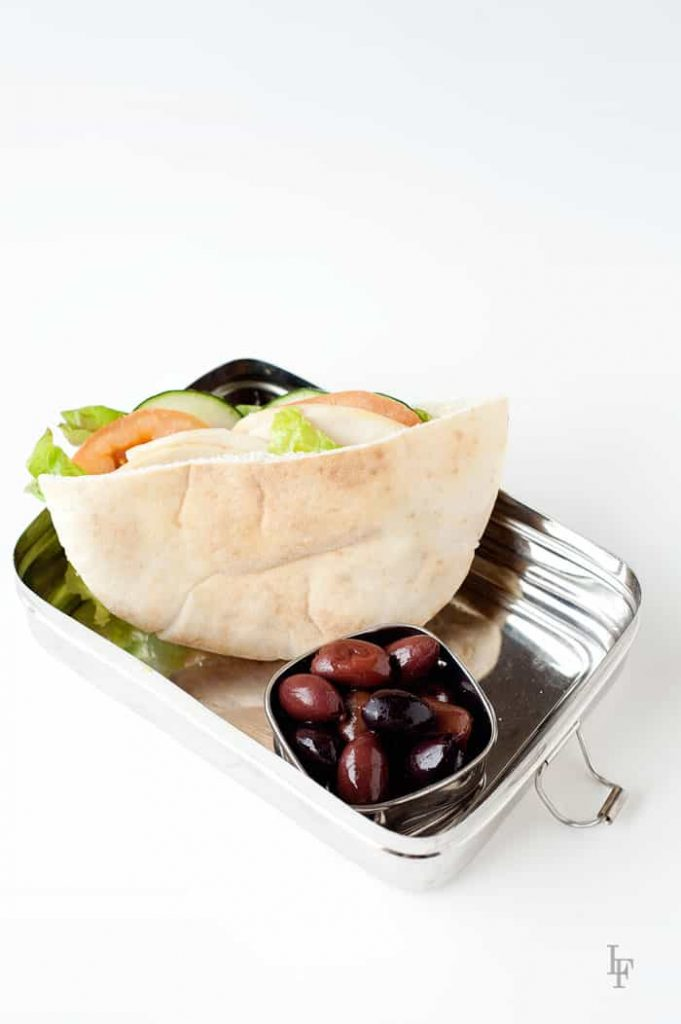 this turkey and pear pita is a delicious alternative to a turkey sandwich