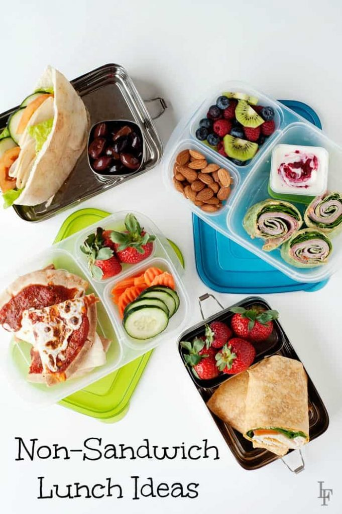 non sandwich school lunch and office lunch ideas