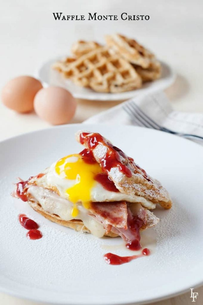 Food Network's Rewrapped Waffle Monte Cristo Sandwich - holy egg! you've got to try one!