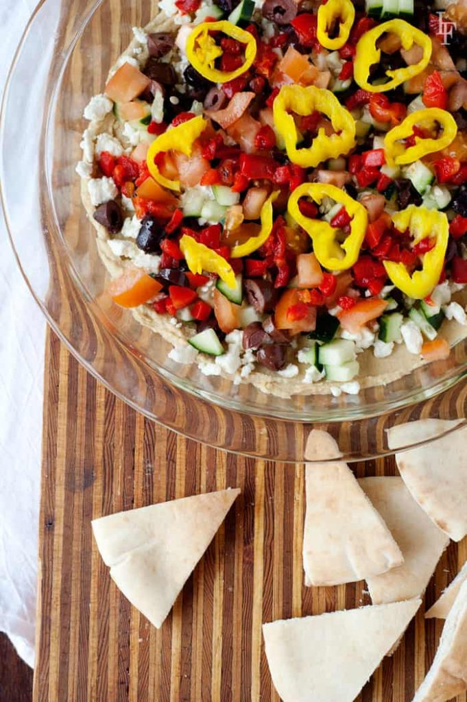 easy 7 layer mediterranean greek hummus dip recipe that will wow your guests