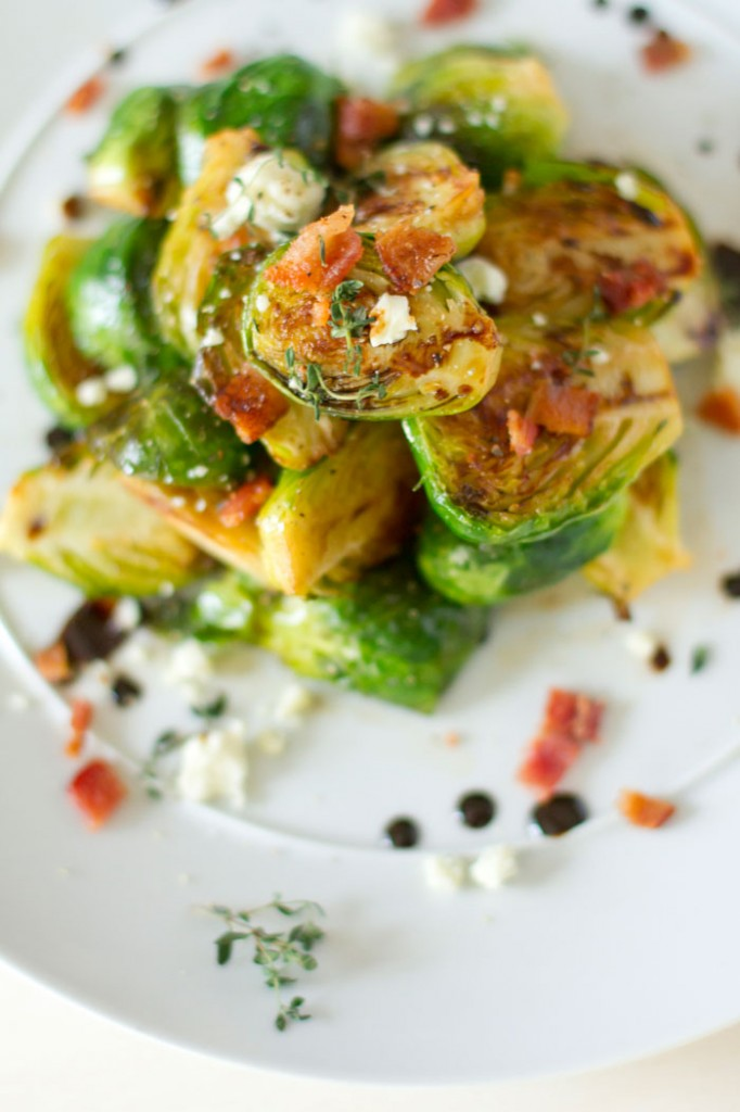 easy recipe for caramelized brussels sprouts on a pan not oven roasted.