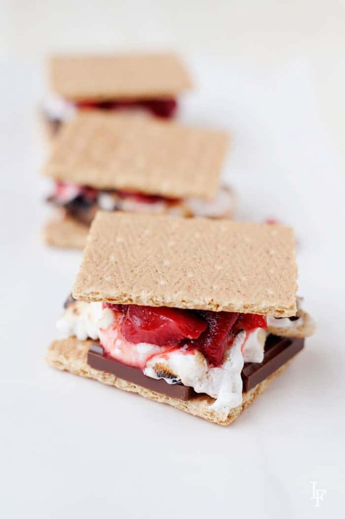 who doesn't love s'mores? wow, the roasted strawberries take the classic s'more to a whole new level. The kids (and adults) are going to love them