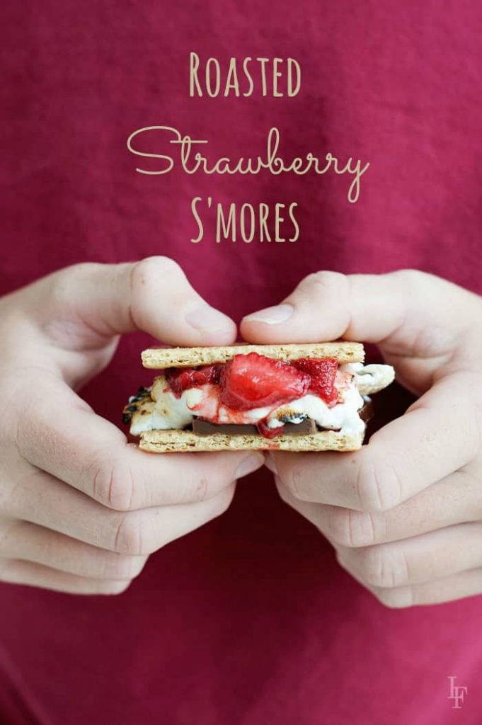 these roasted strawberries take the classic s'more to a whole new level!