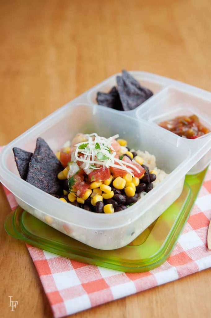 burrito bowl packed in a lunchbox is perfect for school and office lunches! get the container: http://bit.ly/shopeasylunchboxes