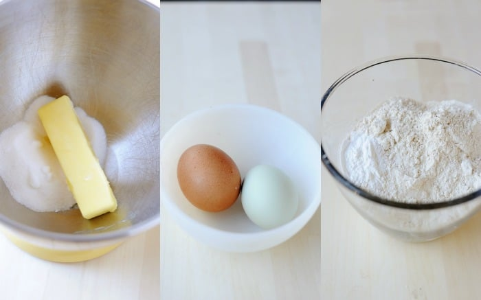 basic ingredients for baked apple fritter muffin recipe