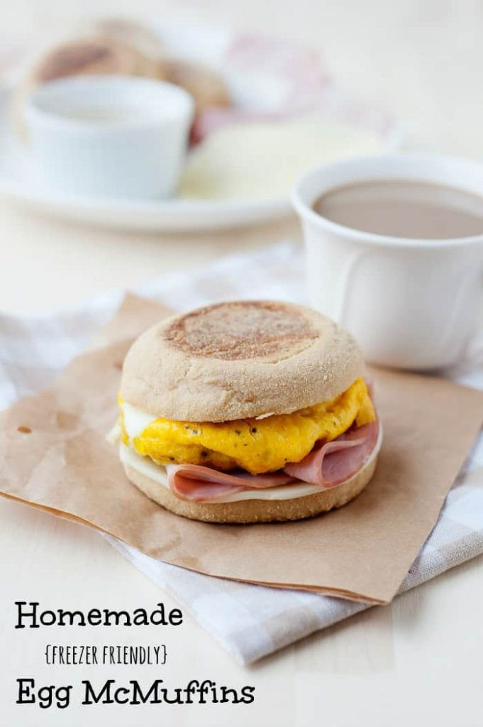 super easy to make breakfast idea: freezer friendly egg mcmuffins