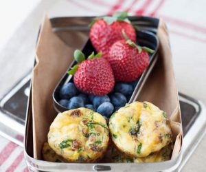 these mini quiches are perfect for breakfast too! grain free and gluten free. can be made ahead of time too!