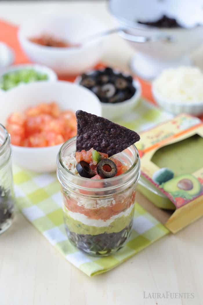 super delicious and easy to make mexican dip cups with taco night leftovers!