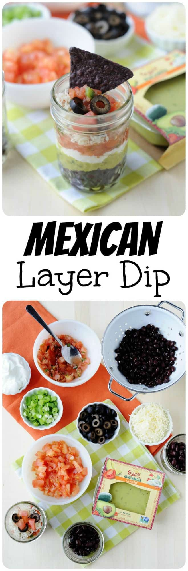These 7 Layer Mexican Dip Cups are made with black beans instead of refried beans. Perfect to use leftovers from Taco night or as a party appetizer!
