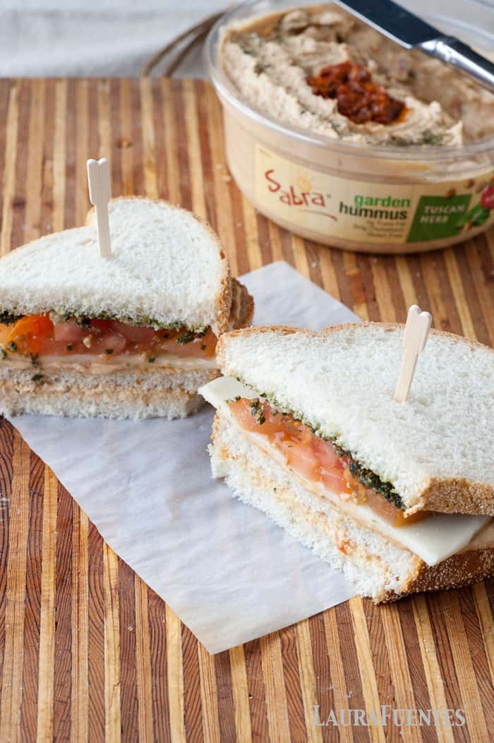 who wouldn't want a pesto, hummus, and veggie sandwich? omg so so good!