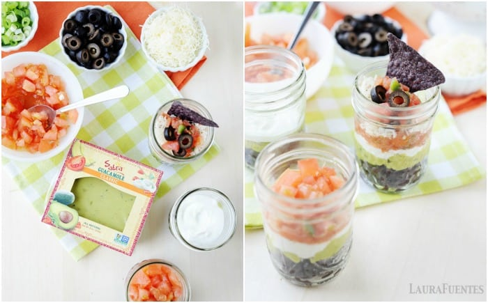 5 minute snack idea: Mexican dip cups